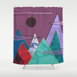 Abstract #405 Shower Curtain
