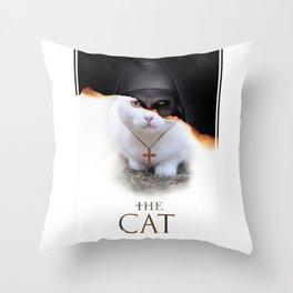The Cat Nun Throw Pillow