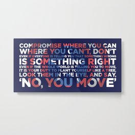 Civil War Quote Metal Print