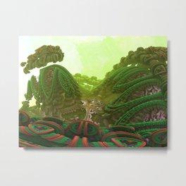 Hedgerow Dawn Metal Print