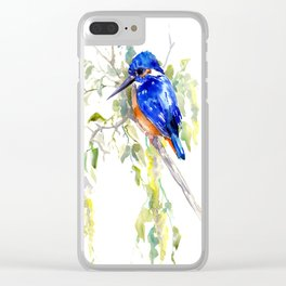 Kingfisher on the Tree Clear iPhone Case