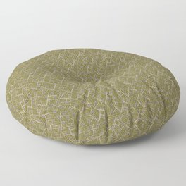 Mid Century Modern Diamonds #4 with Crosshatch Floor Pillow