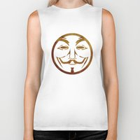 anonymous Biker Tanks featuring Anonymous by Spooky Dooky