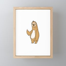sloth sloth not lazy but slow not lazy chill Framed Mini Art Print