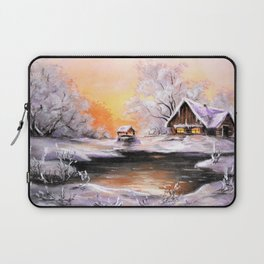 Winter in the village # 3 Laptop Sleeve