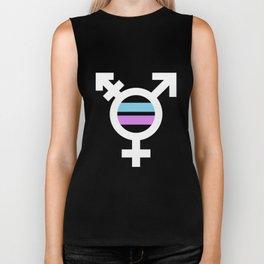 Transgender Sign Flag Symbol - Trans Pride LGBT Biker Tank