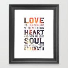 (Colors) Heart Soul Strength Framed Art Print