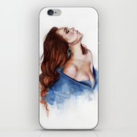 lindsay lohan iPhone & iPod Skins featuring Lindsay by Inna Nova