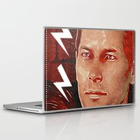 dragon age Laptop & iPad Skins featuring Commander Cullen: Dragon Age by Georgiart