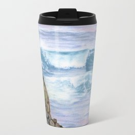Cliff By The Sea Travel Mug