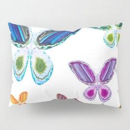 A Rainbow of Agate Butterflies Pillow Sham