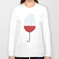 yetiland Long Sleeve T-shirts featuring umbrella bath time! by Yetiland