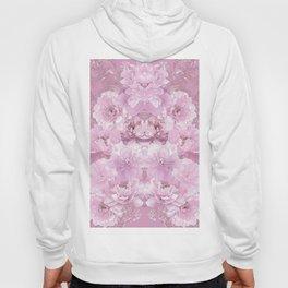 Pink Mirrored Floral Hoody