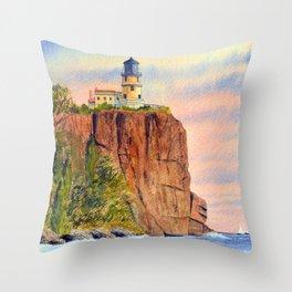 Split Rock Lighthouse Minnesota USA Throw Pillow