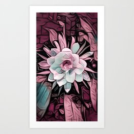 Eye of the Cereus Flower Art Print