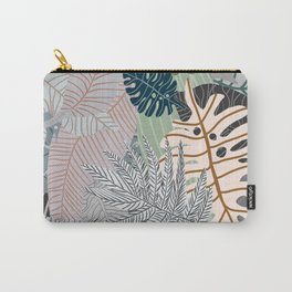 Sun Bleached Army Green Leaves Carry-All Pouch