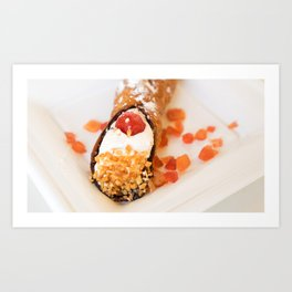 Sicilian cannoli with ricotta Art Print