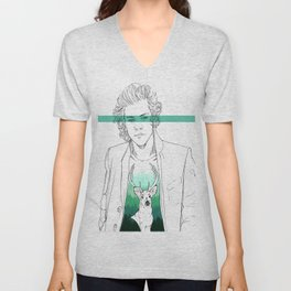 Harry and the deer. Unisex V-Neck