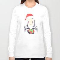 chihiro Long Sleeve T-shirts featuring Kaonashi's trap! by Puddingshades