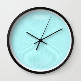 Wire Globe Full Blue White Background Wall Clock