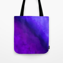 Deep Dark Abyss - Ultra Violet Ombre Abstract Tote Bag