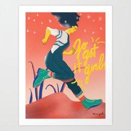 Go Get It Girl_CYL Illustration Art Print