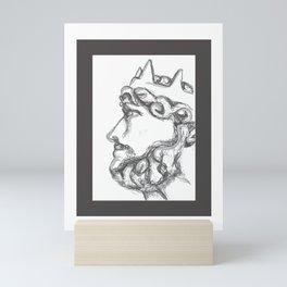 Bust of a King Mini Art Print