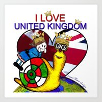 Monsieur Jac & Lily love UK  Art Print