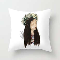Crown of Roses Throw Pillow