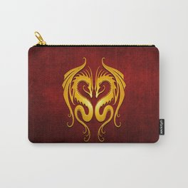 Yellow and Red Twin Tribal Dragons Carry-All Pouch
