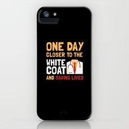 Medical School Student White Coat Gift iPhone Case