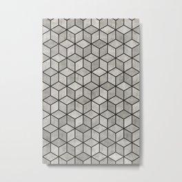 Concrete Cubes Metal Print
