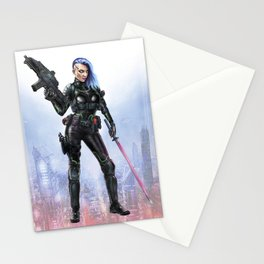 Cyber Samurai Stationery Cards