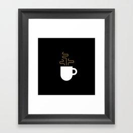 Coffee Cup Black Framed Art Print