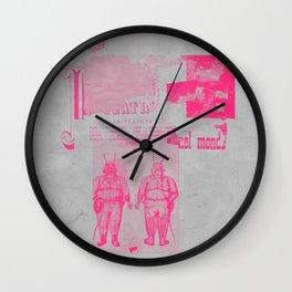Pink nihilist II Wall Clock