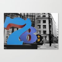 numbers Canvas Prints featuring Numbers by liberthine01