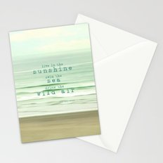 live in the sunshine Stationery Cards