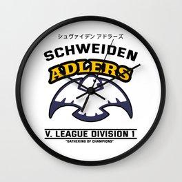 Haikyuu!, Schweiden Adlers Volleyball Team Black Text Wall Clock