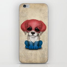 Cute Puppy Dog with flag of The Netherlands iPhone Skin