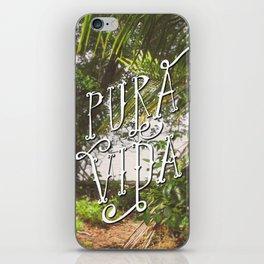 Pura Vida Costa Rica Jungle Life Caribbean Type iPhone Skin