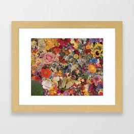 Flower Power Collage Framed Art Print