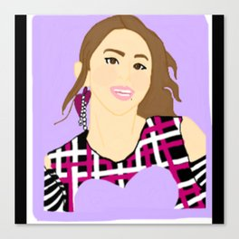 Knock Knock! Chaeyoung Purple Canvas Print