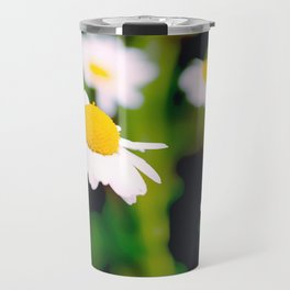 White Daisies Travel Mug
