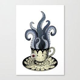 Kraken tea Canvas Print