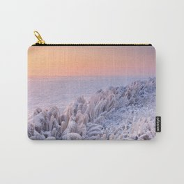 Sunrise over a frozen lake in The Netherlands Carry-All Pouch