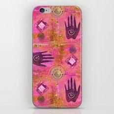 Hands ethnic symbol painting iPhone & iPod Skin