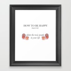 Rules of happiness Framed Art Print
