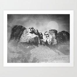 Rushmore at Night Art Print