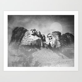 Rushmore at Night Art Print