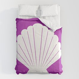 Seashell (White & Purple) Comforters
